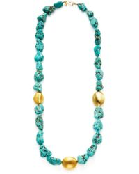 Kenneth Jay Lane - Pebble Station Necklace - Lyst