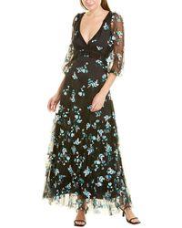 Diane von Furstenberg Marleigh Floral Maxi Dress - Black