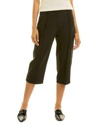 Rebecca Taylor Ultra Crop Wool-blend Pant - Black