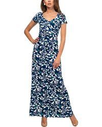 Aerin Linen-blend Dress - Blue
