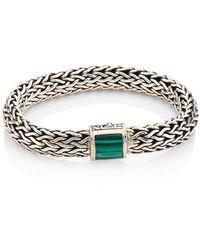 John Hardy - Batu Classic Chain Large Malachite & Sterling Silver Bracelet - Lyst