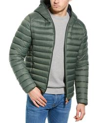 Save The Duck Basic Hooded Jacket - Green