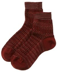 Missoni Short Socks - Red