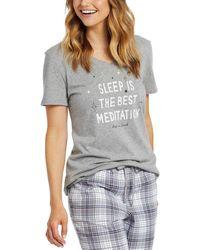 Life Is Good. ? Snuggle Up Sleep Vee - Gray