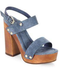 Joie - Dea Kid Suede Platform Sandals - Lyst