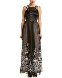 Karen Millen Floral Lace Maxi Dress - Black