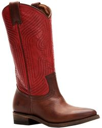 Frye Billy Leather Bootie - Red