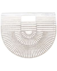 Cult Gaia Small Acrylic Ark Bag - White
