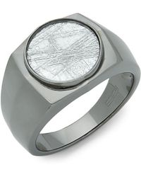Effy - Crystal And Sterling Silver Ring - Lyst