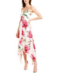 Laundry by Shelli Segal Floral Midi Dress - Green
