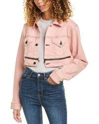 Cotton Citizen Super Crop Jacket - Pink