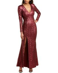 Dress the Population Gown - Red