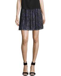 The Letter - Accordion Pleated Metallic Mini Skirt - Lyst