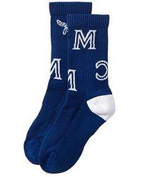 MCM Monogram Socks - Blue