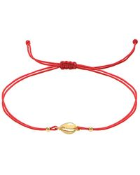 Gabi Rielle Gold Over Silver Anklet - Red