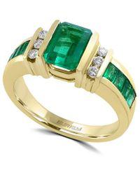 Effy Fine Jewellery 14k 2.26 Ct. Tw. Diamond & Emerald Ring - Multicolour