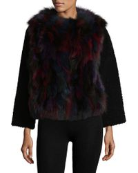 Zadig & Voltaire Fauvy Deluxe Fox Fur Jacket - Black
