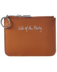 Rebecca Minkoff Cory Life Of The Party Leather Coin Purse - Brown