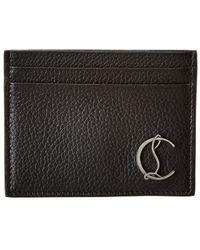 Christian Louboutin M Kios Leather Card Holder - Black