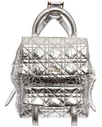 Dior Silver Leather Stardust Backpack - Metallic