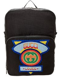 Gucci Medium 80's Logo Backpack - Black