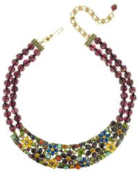 Heidi Daus Crystal Necklace - Metallic