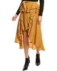 IRO Breathed Wrap Skirt - Yellow