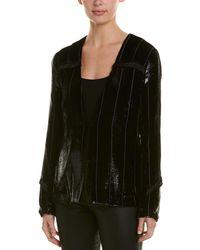 Yigal Azrouël Liquid Velvet Silk-blend Blazer - Black