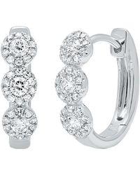 Diana M. Jewels - . Fine Jewelry 14k 0.37 Ct. Tw. Diamond Hoops - Lyst