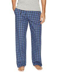 Ben Sherman Box Check Woven Lounge Pant - Blue