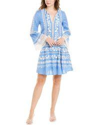 Tory Burch Gabriella Dress | 104 | Shift Dresses - Blue