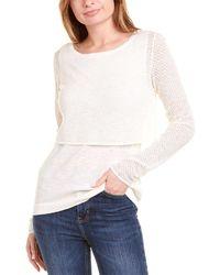 RAFFI Linen-blend Top - White
