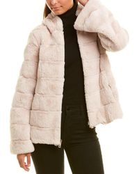 Kenneth Cole Fuzzy Coat - White