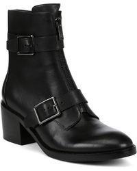Donald J Pliner Dusten Leather Booties - Black