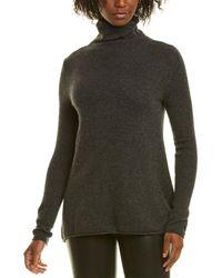 Forte Funnel Neck Cashmere Sweater - Gray
