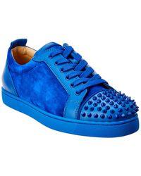 Christian Louboutin - Louis Junior Spikes Suede Sneaker - Lyst