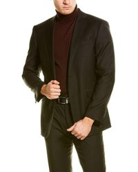 English Laundry 2pc Wool Suit With Flat Front Pant - Multicolor
