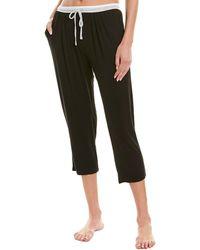 Donna Karan Sleepwear Drawstring Capri - Black