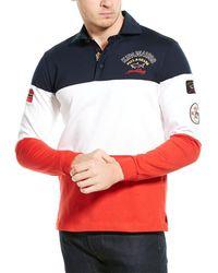 Paul & Shark Colorblock Polo Shirt - Red