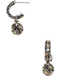 John Hardy - Jaisalmer Silver & Gold Hoop & Ball Earrings - Lyst