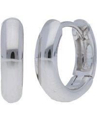 Nephora - 14k White Gold Mini Hoops - Lyst