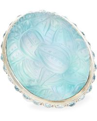 Stephen Dweck Oval Sterling Silver Ring - Blue