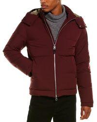 Dunhill Quilted Down Coat - Red