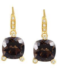 Poiray 18k 6.60 Ct. Tw. Diamond & Quartz Drop Earrings - Metallic