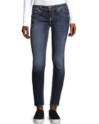 Miss Me Mid-rise Skinny Jeans - Blue