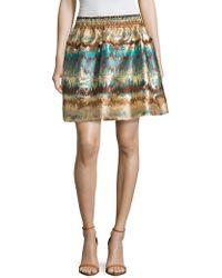 Zoe & Sam - Jacquard Full Mini Skirt - Lyst