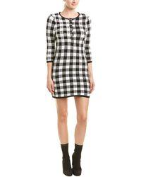 Maje Gingham Jacquard-knit Cotton-blend Mini Dress Black