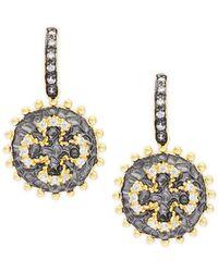 Freida Rothman - Maltese Coin Dangle Earrings - Lyst