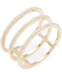 CR By Casa Reale - Triple Diamond Bar Ring - Lyst