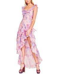 LoveShackFancy Winslow Silk-blend Dress - Pink